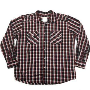 Colours Alexander Julian Plaid Button Front Shirt